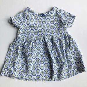5/$25 Carter's Patterned Blue and White Dress